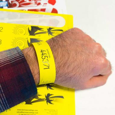Hoja A4 imprimible láser con 8 pulseras - Pack de 10 uds