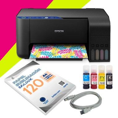 Pack sublimación impresora Epson ET-2711 A4 Flúor