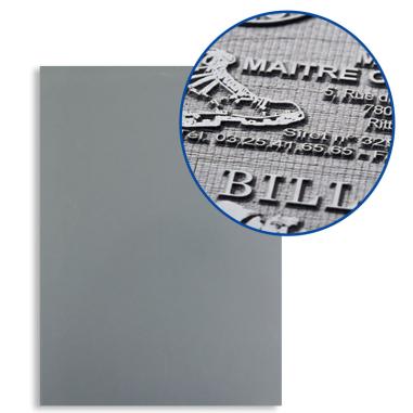 Lámina A4 de caucho gris para grabado láser de 2,3mm de grosor