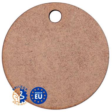 Lámina circular de Ø55mm para llaveros y adornos de DM - Pack de 12 uds
