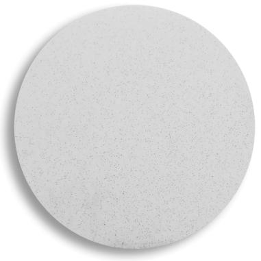Placa de aluminio blanca de Ø32mm para cuelgabolsos magnético redondo