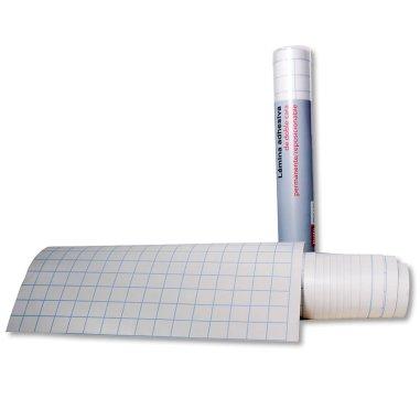 Lámina adhesiva de doble cara removible/permanente - Rollo 32cm x 3m