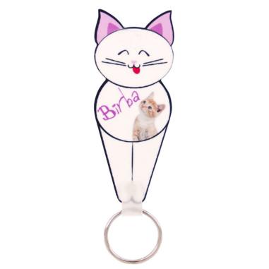 Llavero plastico forma gato - Personalizado