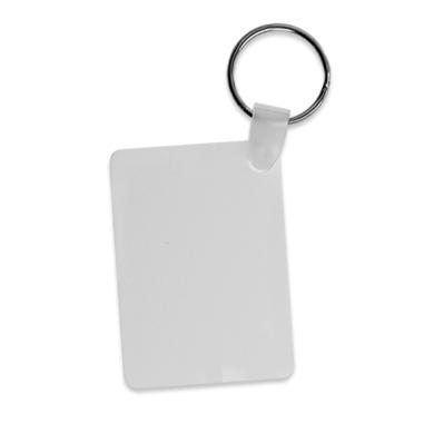 Llavero rectangular para sublimación de aluminio
