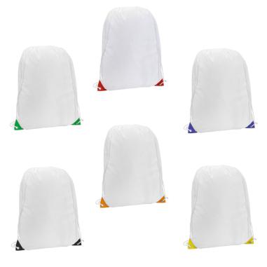 Macutos de poliéster 210T con ojales en colores surtidos