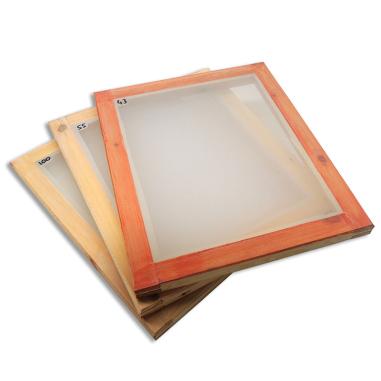 Marcos para serigrafía de madera entelados