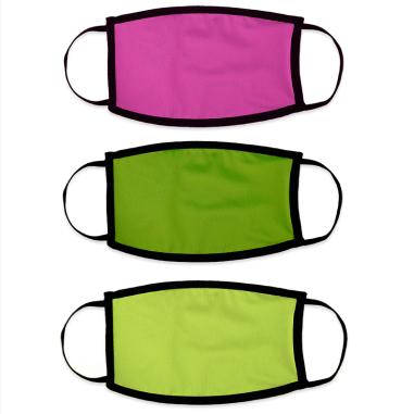 Mascarillas faciales para sublimación doble capa colores flúor