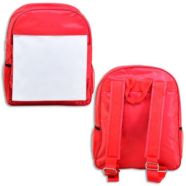 Mochilas escolares - Anverso y reverso mochila roja