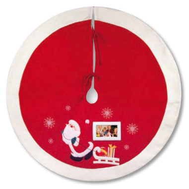Felpudo circular con foto árbol de navidad