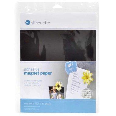 Papel magnético adhesivo Silhouette - Pack 4 hojas de 216x279mm