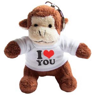 Llavero Mono de Peluche personalizado