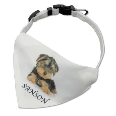 Collar para mascotas con pañuelo personalizado
