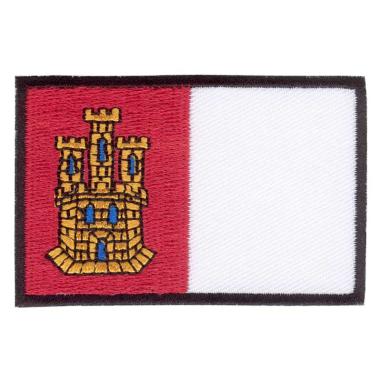 Parche bordado bandera de Castilla la Mancha pack 3 uds