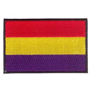 Parche bordado bandera de España Republicana sin escudo pack 3 uds