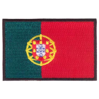 Parche bordado bandera de Portugal pack 3 uds