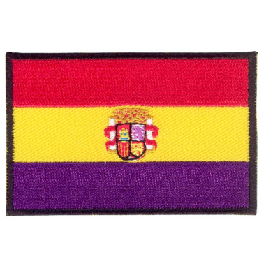 Parche bordado bandera de España Republicana con escudo pack 3 uds