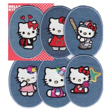 Rodilleras bordadas Hello Kitty Surtido 6 uds