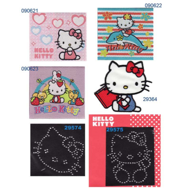 Parches bordados - estampados Hello Kitty Surtido 6 uds