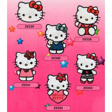 Parches bordados Hello Kitty Surtido 6 uds