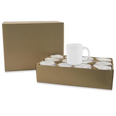 Pack 36 tazas blancas para sublimación