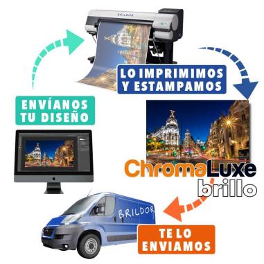 Panel Chromaluxe aluminio brillo + SERVICIO DE IMPRESIÓN
