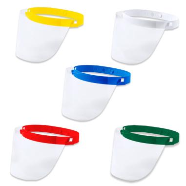 Pantallas protectoras faciales de colores para niños