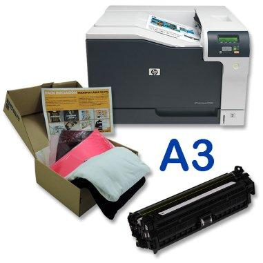 Pack Impresora Láser A3 color HP LaserJet CP 5225DN con tóner blanco