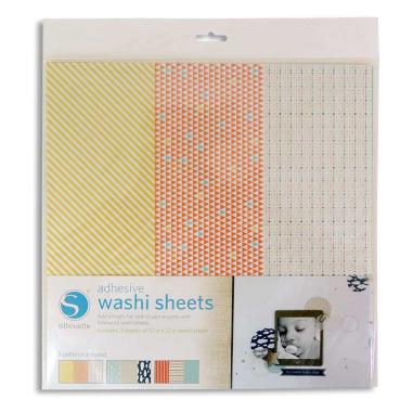 Papel adhesivo Washi Silhouette - Pack 3 hojas surtidas de 305x305mm