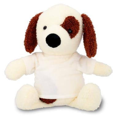 Peluche perro manchas con camiseta para sublimación de 22cm