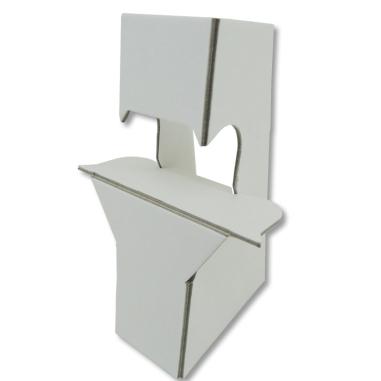Peanas de cartón con adhesivo