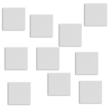 Placa de aluminio de 37 x 37 mm para candado cuadrado