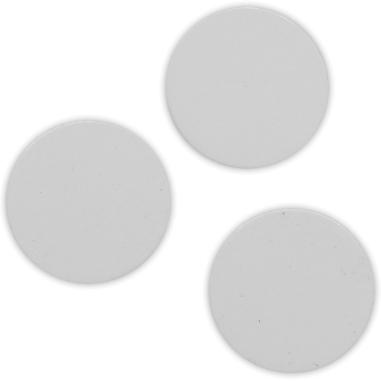 Placa de aluminio de Ø 16 mm para collar redondo triple y gemelos, pack de 3 uds