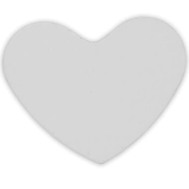 Placa de aluminio para collar corazón