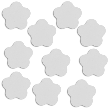Placa de aluminio para gancho forma flor