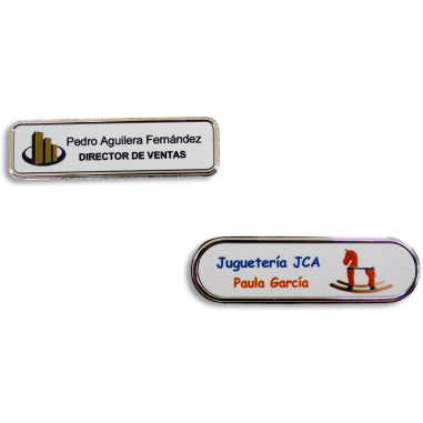 Placas identificativas de metal