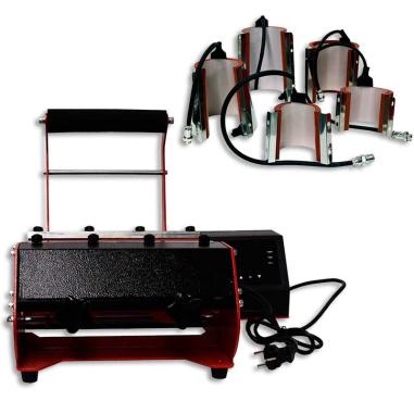 Plancha para tazas 6 en 1 - Detalle plancha con resistencia y 5 resistencias