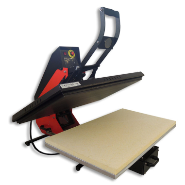 Plancha transfer Brildor A3.2 80x50 - Abierta con plato inferior extraible