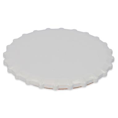 Posavasos de cerámica para sublimación forma chapa de botella