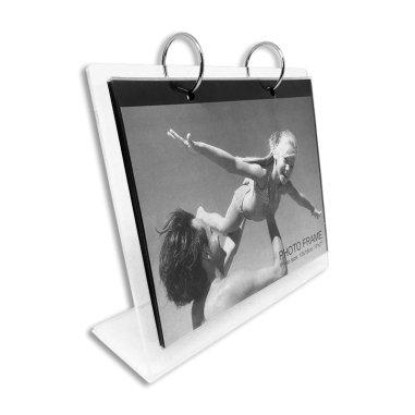 Portafotos calendario metacrilato con 13 hojas de 13 x 18cm