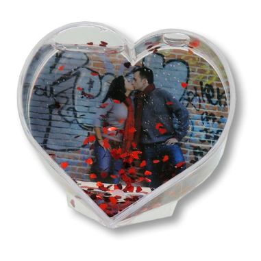 Portafotos corazón con corazones
