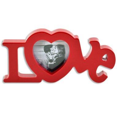 Portafotos Love 3D rojo
