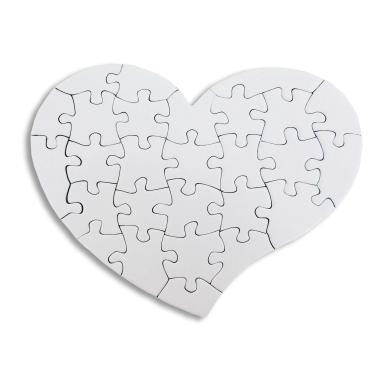 Puzzle Corazón de cartón para sublimación de 28 piezas - Puzzle