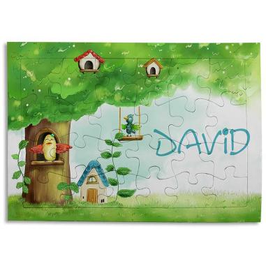 Puzzle de cartón 24 piezas con marco