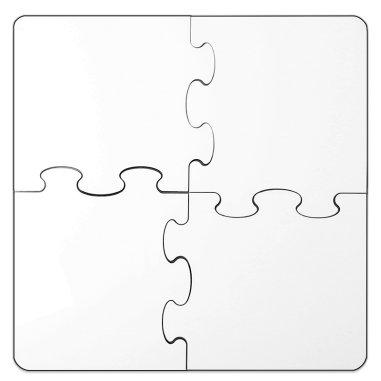 Posavasos puzzle de madera para sublimación de 4 piezas