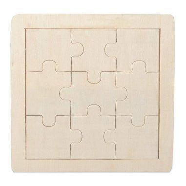 Puzzle de madera natural de 9 piezas