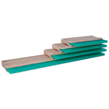 Racletas mango madera para serigrafía