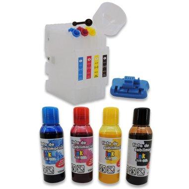 Kit cartuchos + tinta InkSub GEL para Sawgrass Virtuoso SG400 y SG800