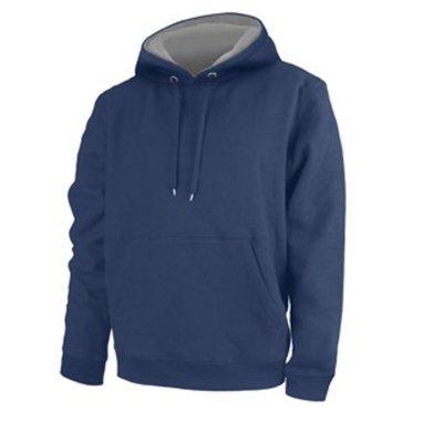 Sudadera Unisex con capucha 100% poliéster tacto algodón Azul