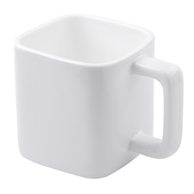 Taza blanca cuadrada