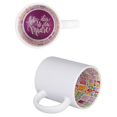 """Taza blanca con interior impreso diseño """"Dia de la Madre"""""""